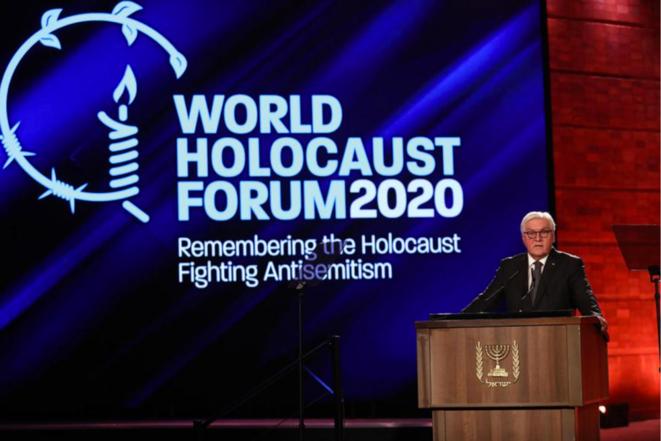 Le président allemand Frank-Walter Steinmeier a fait partie des dirigeants des nations qui ont pris la parole lors du Forum international sur la Shoah à Yad Vashem. Source: site de Yad Vashem