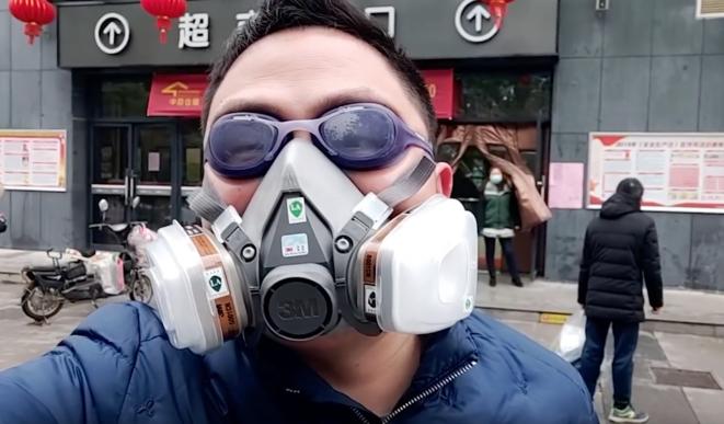 Sur la chaîne YouTube d'un habitant de Wuhan. © DR