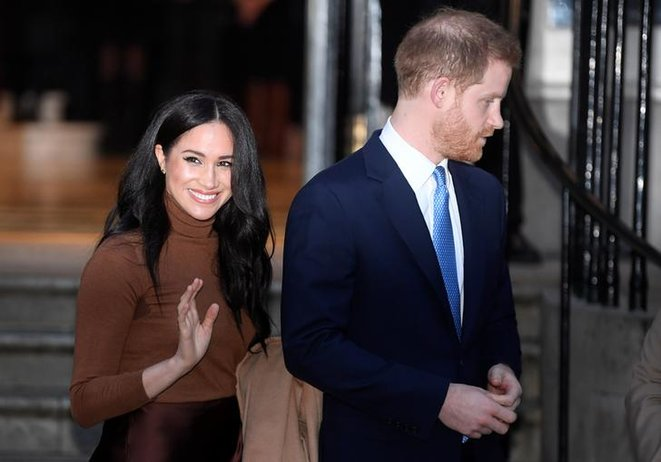 Meghan et Harry à Londres, le 7 janvier. © Reuters