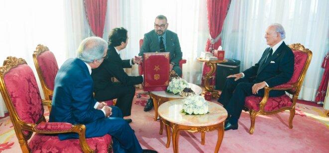 Le roi Mohammed VI réunissant le président du GPBM, le gouverneur de la Banque centrale et le ministre de l'économie et des finances
