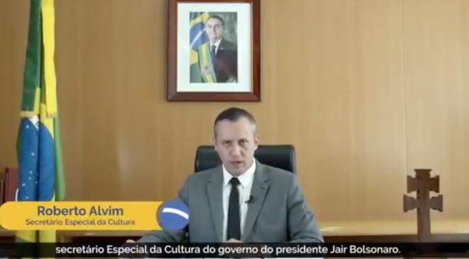 Le discours de Roberto Alvim inspiré de Joseph Goebbels. © DR/YouTube