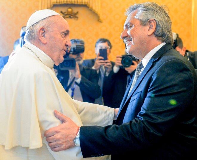 Le Pape Francisco avec Alberto Fernández © Secrétariat de la présidence argentine