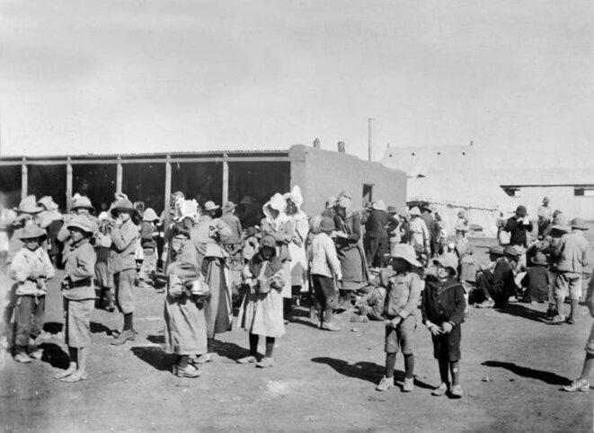Un camp de concentration de la guerre des Boers.