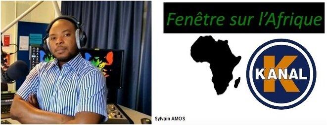 Sylvain Amos, animateur de l'émission Fenêtre sur l'Afrique, Radio Kanal K