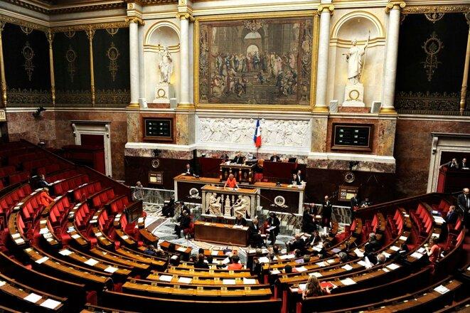 L'hémicycle du Palais-Bourbon en 2013. © Ministère de l'Enseignement supérieur et de la Recherche/Wikipedia Commons (via Flickr), lic. CC-BY-SA 2.0