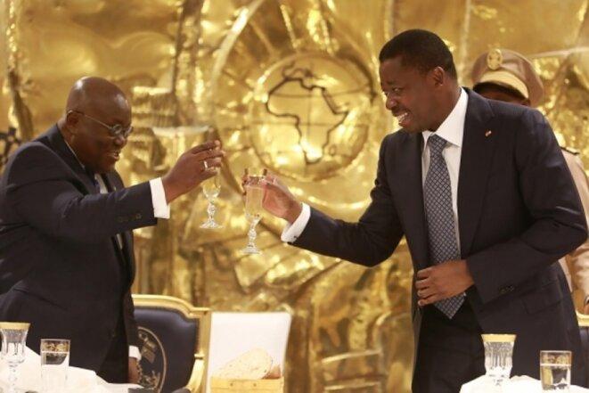 Dîner offert en l'honneur du président du Ghana Nana Akufo-Addo par Faure Gnassingbé à Lomé le 4 mai 2017