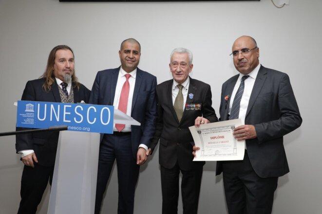 """Jeudi 30 janvier 2020 - UNESCO - Réception d'adieu en l'honneur du Prof Ibrahim ALBALAWI – Distinction honorifique : la prestigieuse médaille du """"Mérite et Dévouement Français"""""""