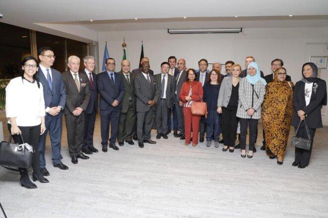 Jeudi 30 janvier 2020 - UNESCO - Réception d'adieu en l'honneur du Prof Ibrahim ALBALAWI – Photo de famille.