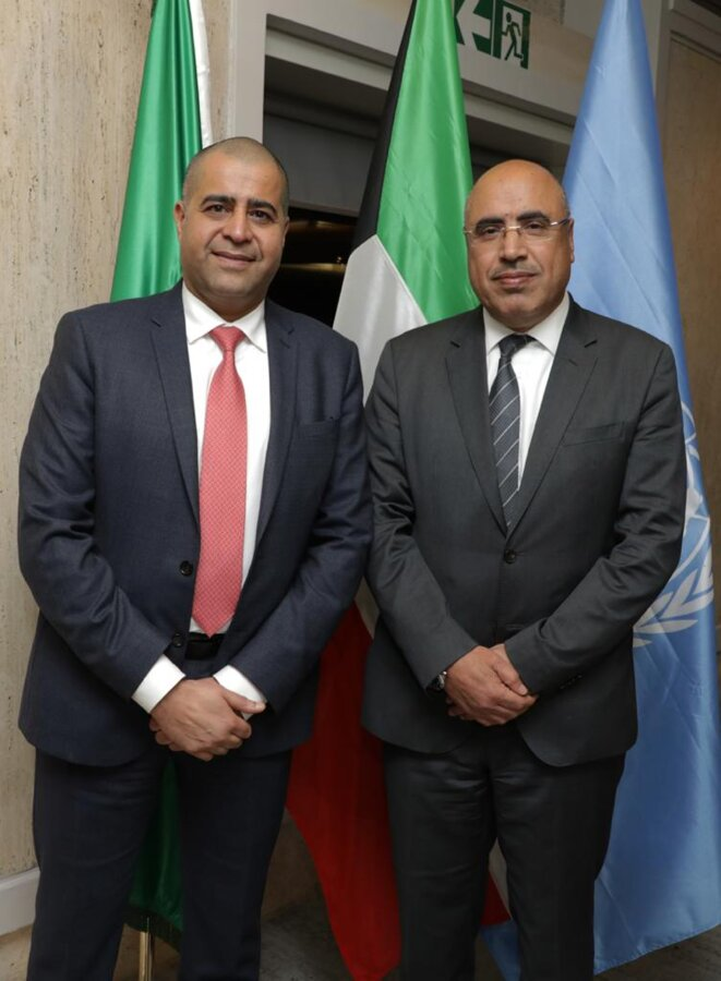 S.Exc. Dr. ADAM AL MULLA (Koweït, à gauche) et S. Exc. Pr. IBRAHIM ALBALAWI (Arabie Saoudite, à droite)