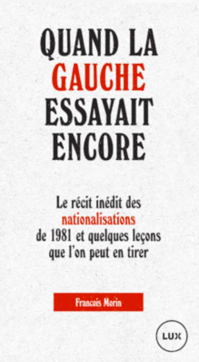 La couverture de l'ouvrage de François Morin. © DR