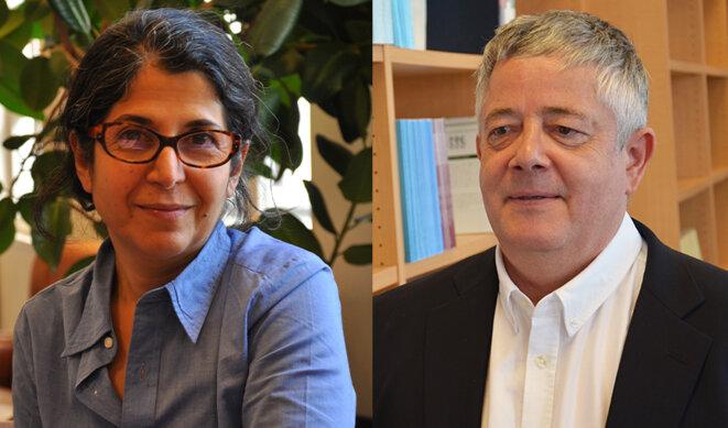 Fariba Adelkhah et Roland Marchal. © Sciences Po