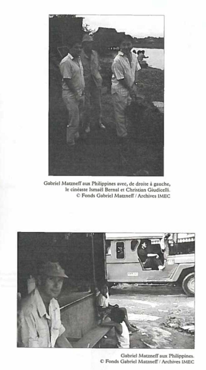 Les deux photographies issues du livre hommage à Gabriel Matzneff publié aux éditions du Sandre en 2010.