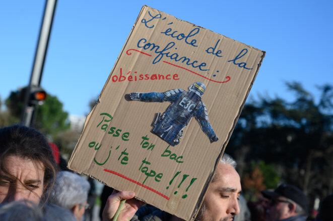 Lors d'une manifestation à Nantes, le 6 février 2020 © Estelle Ruiz / NurPhoto