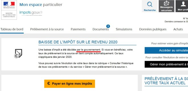 Baisse IR 2020