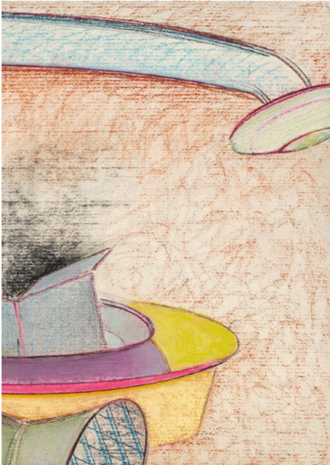 """François Barbâtre, """"La Centrale"""", pastel sur papier, détail, 40 x 50 cm, 2019. © Jean-Louis Rossi"""