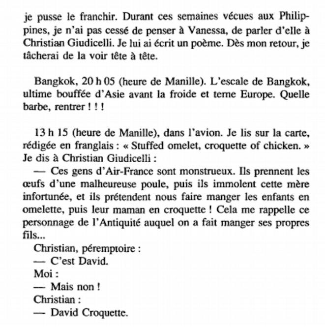 """Extrait du livre """"La prunelle de mes yeux"""" (1993)."""