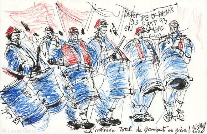 16 janvier 2020 | La raffinerie Total de Grandpuits en grève!