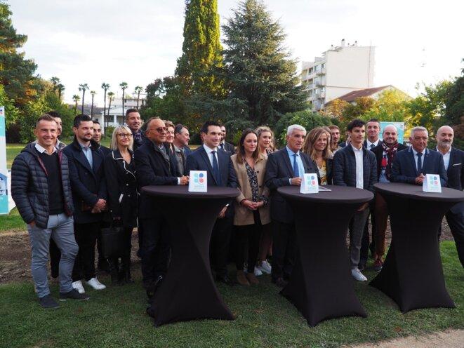 Gérard Trémège lors de la présentation de sa liste, en octobre 2019. © Twitter / @GerardTremege