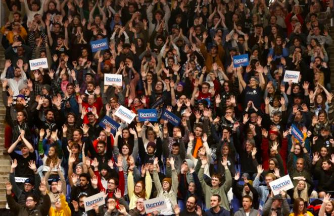Meeting de Bernie Sanders à Durham, New Hampshire, le 10 février. © Reuters