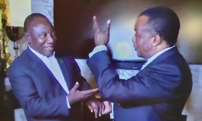 Tête-à-tête Cyril Ramaphosa et Denis Sassou N'Guesso sur la crise libyenne