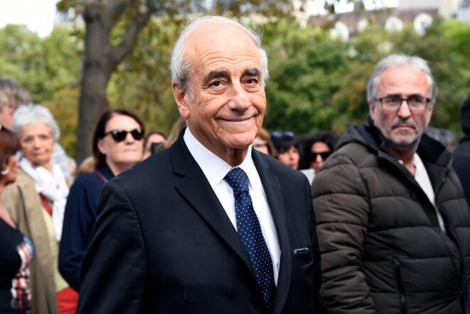 Jean-Pierre Elkabbach, le 1er septembre 2017. © Bertrand Guay/AFP