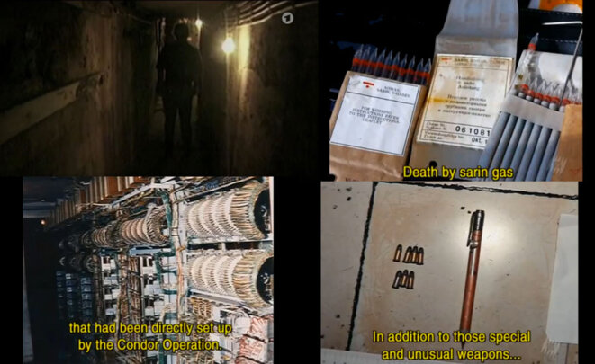 Colonia Dignidad underground. Weapons & Condortel equipment