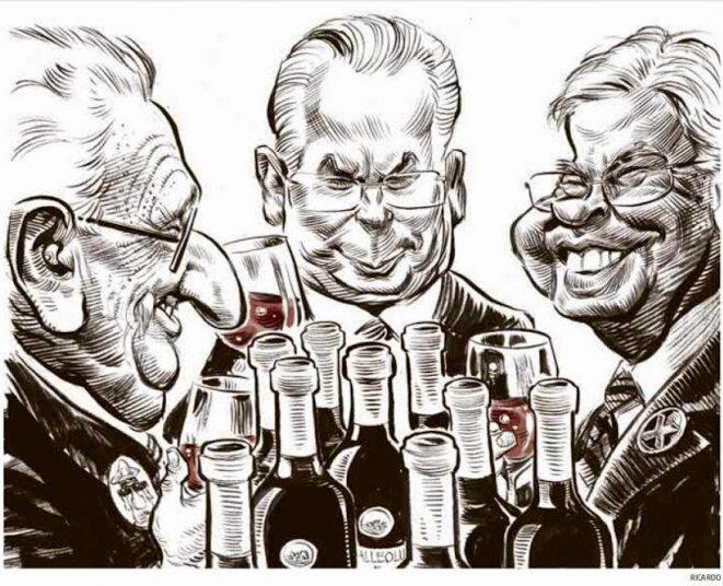 """Ricardo """"La Grande Bouffe"""". H. Kissinger, B. Garzon, F. Gonzalès"""