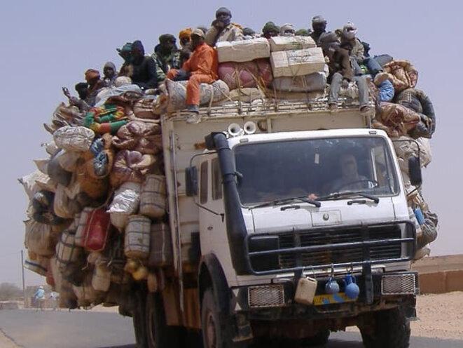 Un camion sur les routes. / Photographie communiquée par l'auteur.