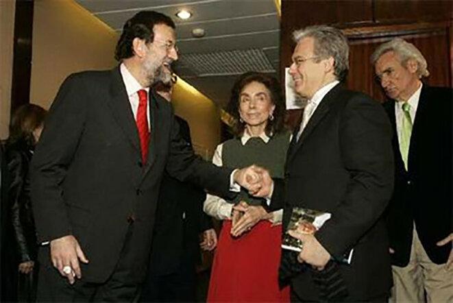 Baltasar Garzón & Mariano Rajoy, Ministre de l'Intérieur (Home Office) du gouvernement Aznar du Parti Populaire © losgenoveses.net