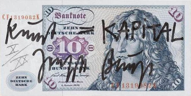 Joseph Beuys - Kunst = KAPITAL (10/20), 1979 © http://artsdocuments.blogspot.com/