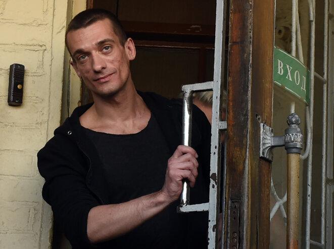 Piotr Pavlenski à Moscou, en juin 2016. © VASILY MAXIMOV / AFP