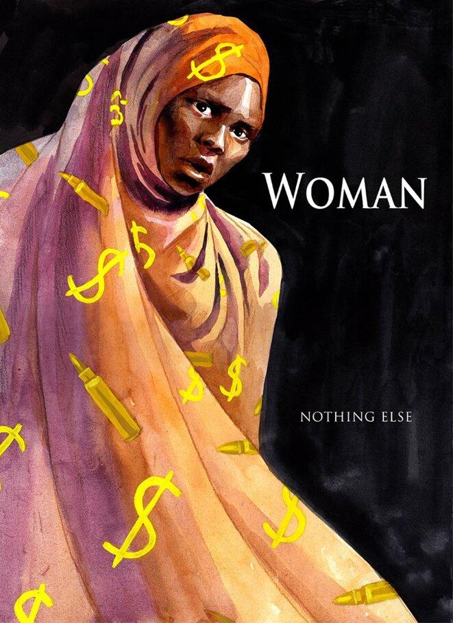 """Illustration de la dessinatrice Malvina Barra, """"Woman... Nothing Else"""" (Femme... Rien d'autre)."""
