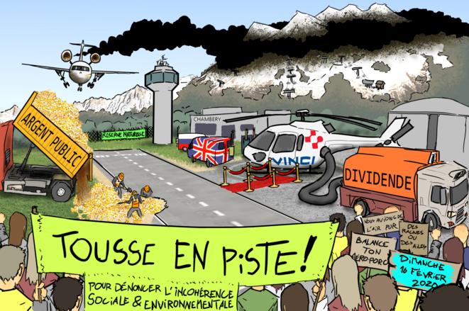 """XR, Attac et les Amis de la Terre © """"Tousse en Piste"""""""