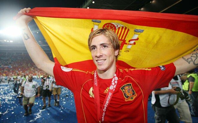 Fernando Torres, buteur victorieux de la finale de l'Euro 2008 face à l'Allemagne