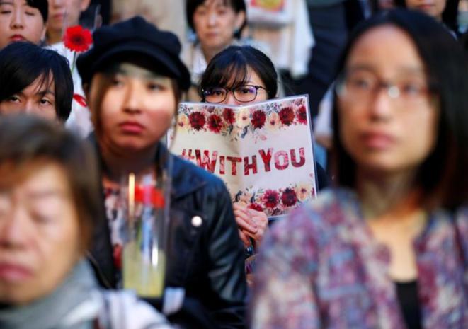 """La manifestación """"Flower Demo"""", el 11 de junio de 2019 en Tokio. © Reuters"""