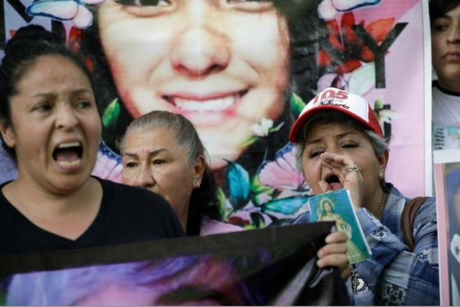 Manifestation le 15 février 2020 à Mexico après la mort d'Ingrid. © REUTERS