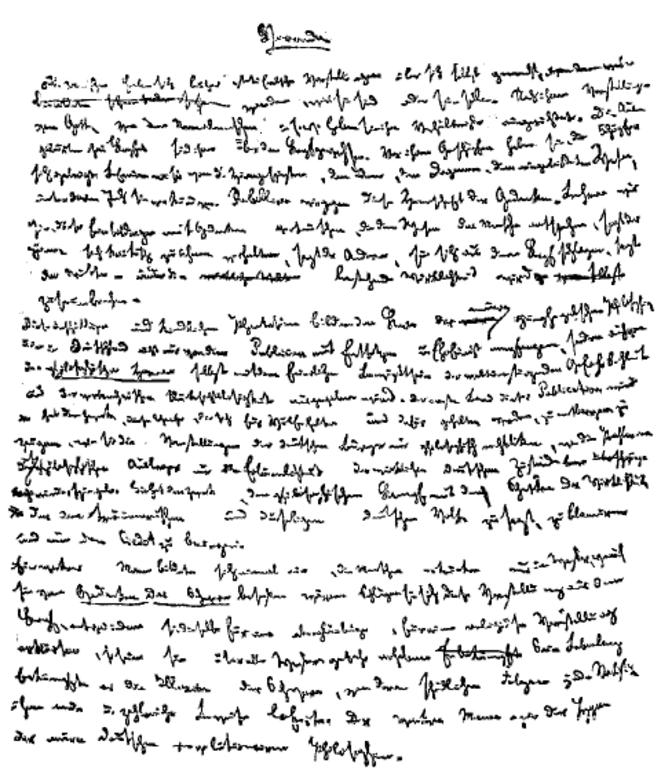 Première page de L'Idéologie allemande (1845-1846). Source: Wikimedia Commons.