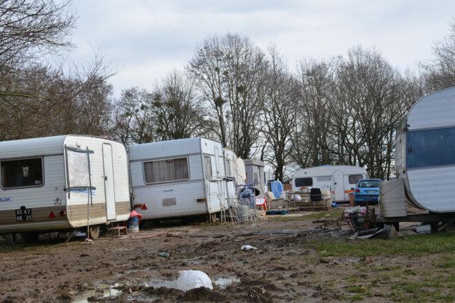 Caravanes sur le campement de Metz Borny © Eric GRAFF