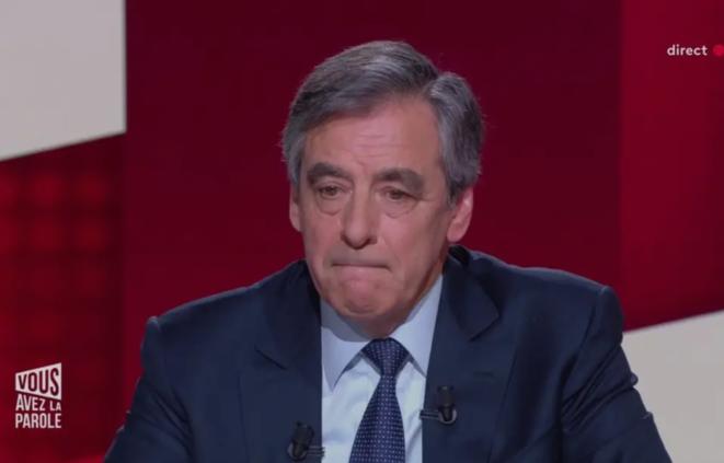 François Fillon le 30 janvier, sur France 2. © Capture d'écran
