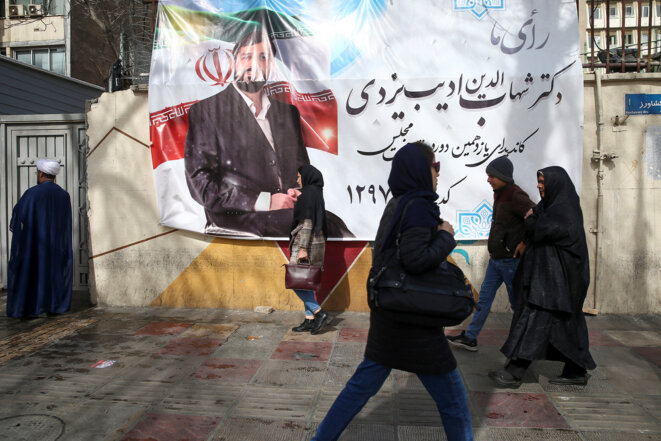 Dans une rue de Téhéran le 15 février 2020. © REUTERS