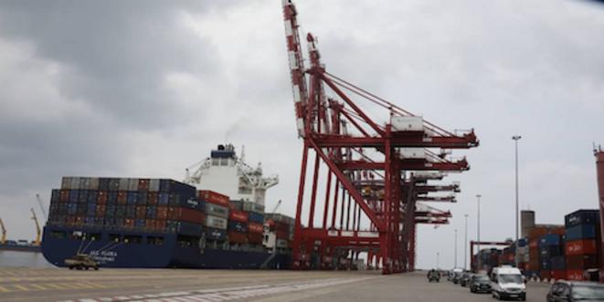 Vue des nouveaux Quais du Port autonome de Pointe Noire