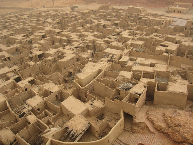 View of the ancient town of Al Ula in Medina province.