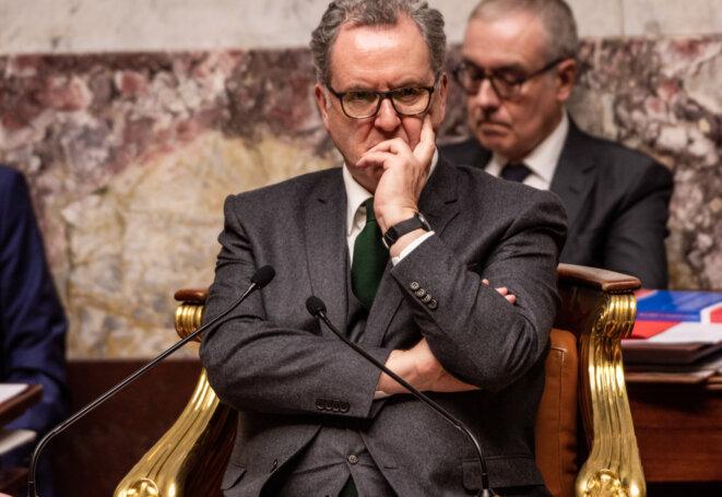 Richard Ferrand, président de l'Assemblée nationale, lors des débats sur la réforme des retraites. © AFP