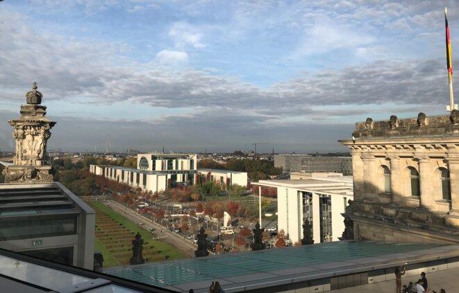 La Chancellerie allemande à Berlin, vue du Bundestag [Photo YF]