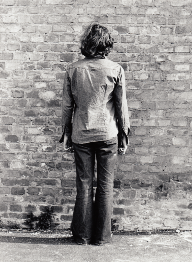 Endre Tót, I am glad if I can stare at the wall, 1971-1976-2015, silver gelatine, print on cardboard, photo 24x18 cardboard, ed10 © Endre Tót, courtesy of the artist, acb Gallery and Salle Principale, photo : János Gulyás