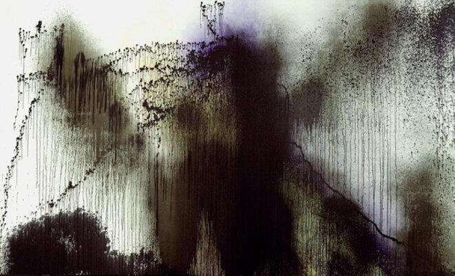 Hans Hartung, « T1989-R17 », acrylique sur toile, 300 x 500 cm, 1989 (© Fondation Hartung-Bergman)