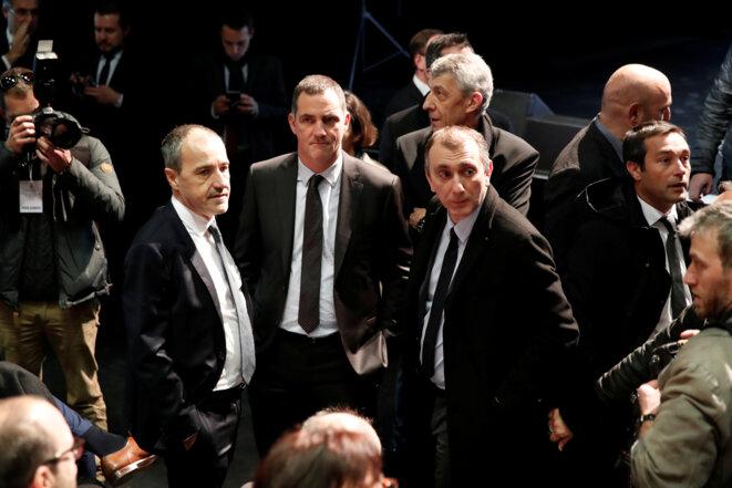Jean-Guy Talamoni, Gilles Simeoni et Jean-Christophe Angelini. © Reuters