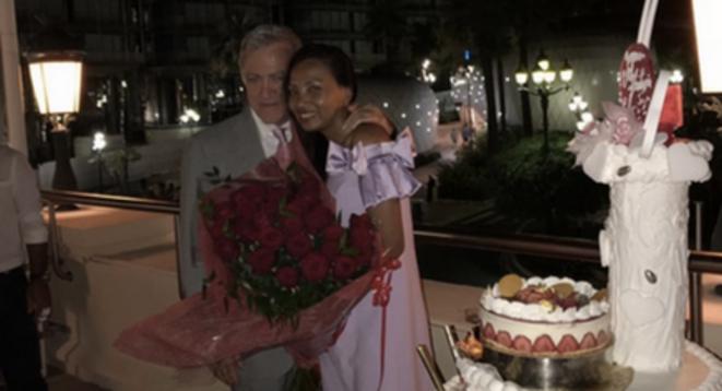 Anniversaire de l'épouse de M. Spinelli à Monaco, en juillet 2018. © Mediapart