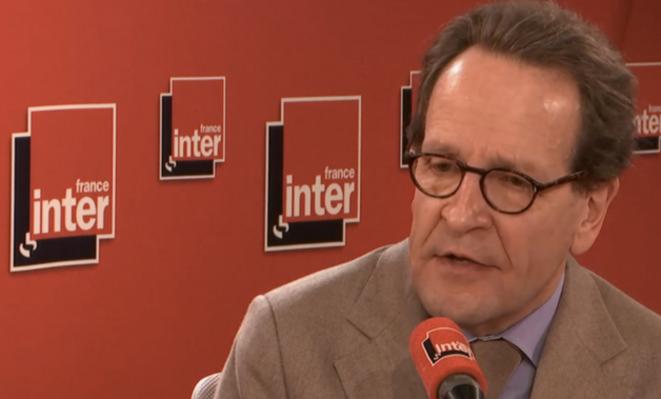 Gilles Le Gendre, jeudi 27 février sur France Inter. © Capture d'écran