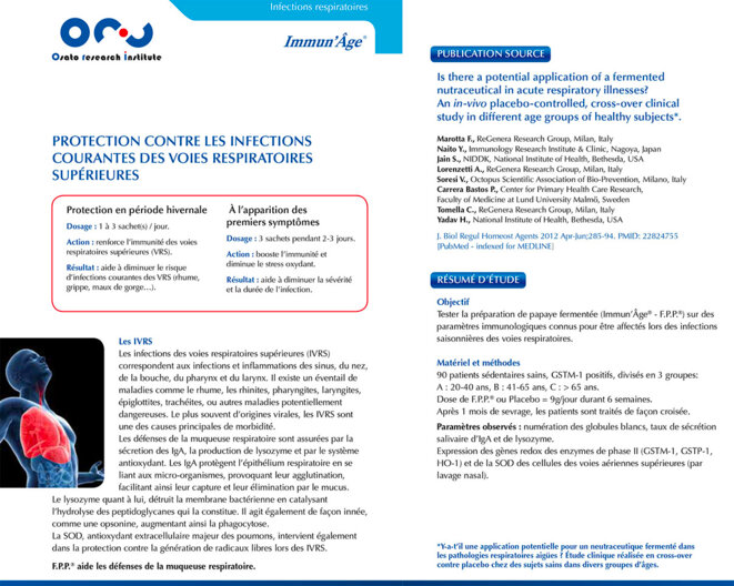 Protection contre les infections courantes des voies respiratoires supérieures